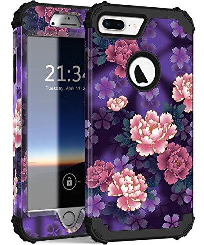 voilet flowers black iphone 7 plus case hocase drop protection